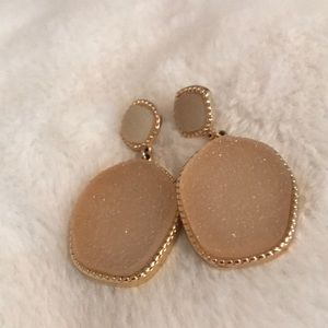 Light Pink Gemstone Drop Earrings